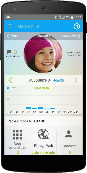 Visuel de l'application Digital Coach sur téléphone