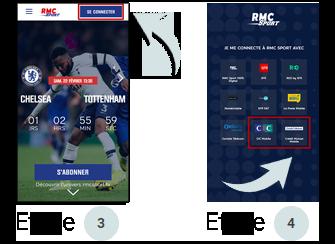 Visuel RMC Sport sur téléphone