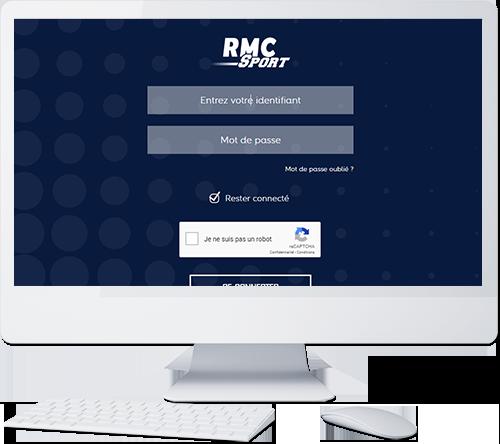 Visuel RMC Sport sur ordinateur
