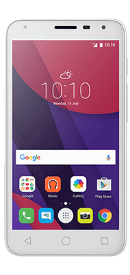 "Téléphone Alcatel PIXI4-5"" 3G Blanc Comme neuf"