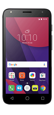 """Téléphone Alcatel PIXI4-5"""" 3G Noir Comme neuf"""