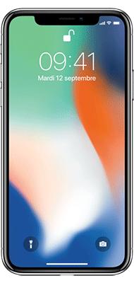 Téléphone Apple iPhone X 256Go Argent Comme Neuf