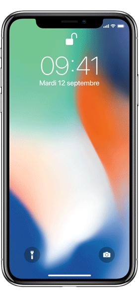 Téléphone Apple iPhone X 64Go Argent Comme Neuf