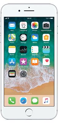 Téléphone Apple iPhone 7 Plus Argent 128Go état correct