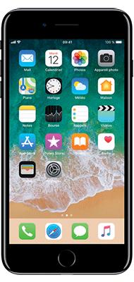 Téléphone Apple iPhone 7 Plus Noir de Jais 128Go état correct