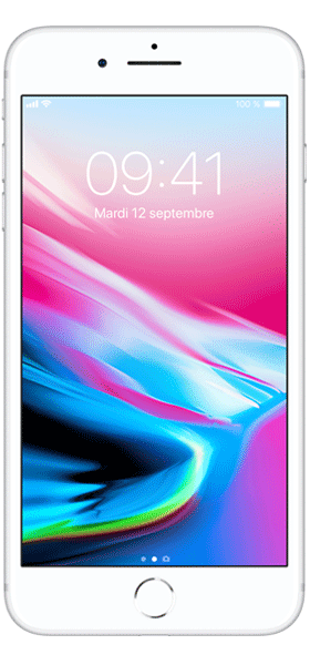 Téléphone Apple iPhone 8 Plus 64Go Argent état correct