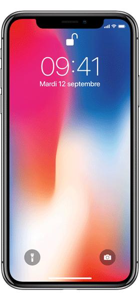 Téléphone Apple Apple iPhone X 64Go Gris Sideral Bon état