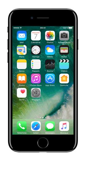 Téléphone Apple Apple iPhone 7 + Noir de Jais 256Go Etat correct