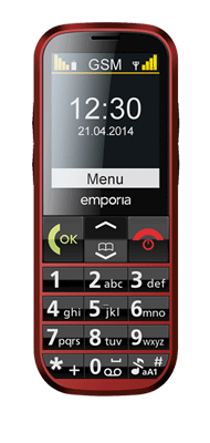 Téléphone Emporia Eco rouge Comme neuf