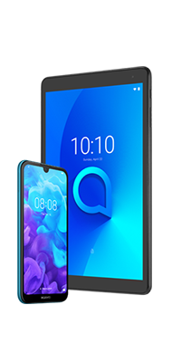 Téléphone Huawei Huawei Y5 2019 Bleu + Tab Alcatel 1T10