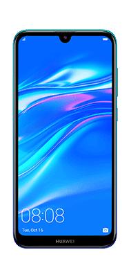 Téléphone Huawei Y7 2019 Aurora blue DS Comme Neuf