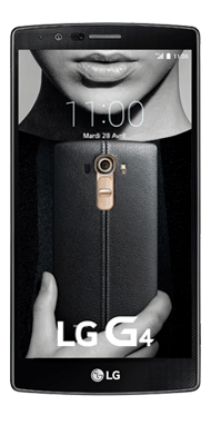 Téléphone LG G4 cuir noir