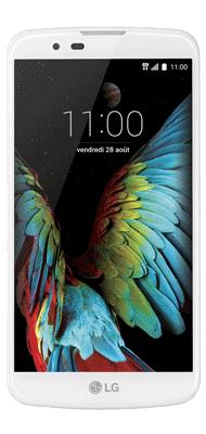 Téléphone LG K10 blanc