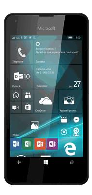 T�l�phone Microsoft Lumia 550 noir