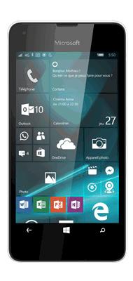 Téléphone Microsoft Lumia 550 blanc Comme neuf