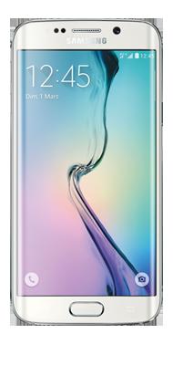 T�l�phone Samsung Galaxy S6 Edge blanc 64Go