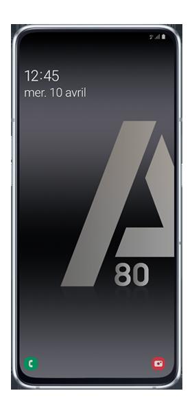 Téléphone Samsung Galaxy A80 Argent DS