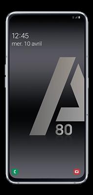 Téléphone Samsung Galaxy A80 Argent Comme Neuf