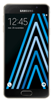 T�l�phone Samsung Galaxy A3 2016 Or Comme neuf