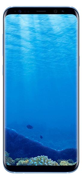 Téléphone Samsung Galaxy S8+ Bleu Corail Très bon état