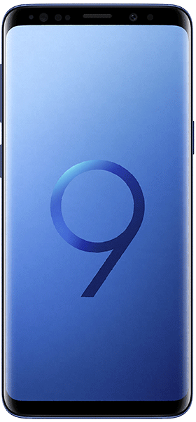 Téléphone Samsung Galaxy S9 Bleu Corail état correct