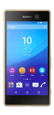 Téléphone Sony Xperia M5 or
