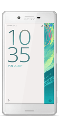 Téléphone Sony Xperia X blanc