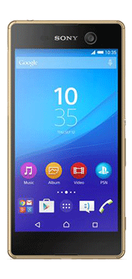 Téléphone Sony Xperia M5 or Comme neuf